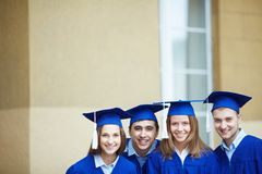 Friendly graduates Royalty Free Stock Images