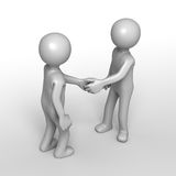 Friendly greeting handshake Royalty Free Stock Images