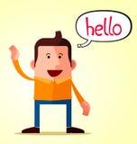 Friendly greeting Stock Photos