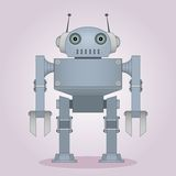 Friendly grey robot Stock Images