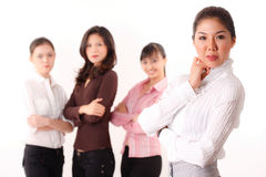 Friendly  group of asian business woman Royalty Free Stock Image