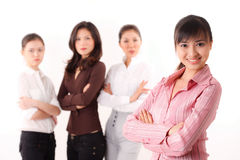 Friendly  group of asian business woman Royalty Free Stock Photo