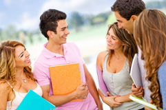 Friendly group of students Stock Photos