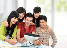 Friendly group of students Royalty Free Stock Image