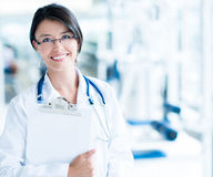 Friendly gym doctor Royalty Free Stock Images