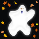 Friendly Halloween ghost Stock Photo