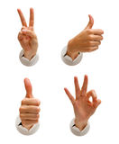 Friendly hand signs Royalty Free Stock Image