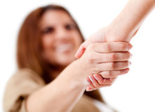 Friendly handshake Stock Photo