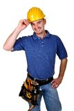 Friendly handy man portrait royalty free stock photography