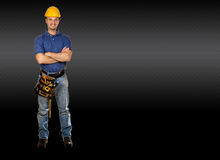 Friendly handy man portrait background royalty free stock photo