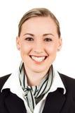 Friendly happy air hostess Royalty Free Stock Photos