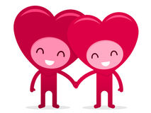 Friendly Happy Hearts Holding Hands Royalty Free Stock Photo