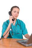 Friendly healthcare worker Royalty Free Stock Photography