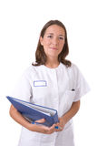 Friendly healthcare worker Stock Image