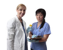 Friendly healthcare workers Stock Photography