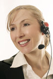 Friendly Help Desk Staff royalty free stock image