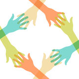 Friendly, helping hands Illustration Stock Image