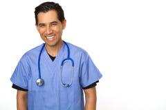 Friendly Hispanic nurse or doctor smiling. Stock Photos