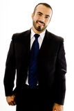 Friendly Hisplanic Guy in Suit stock photography