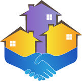 Friendly home builders. A vector drawing represents friendly home builders design Stock Photo