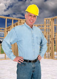 Friendly Home Construction Worker, Contractor Royalty Free Stock Photos