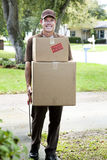 Friendly Home Delivery Stock Images