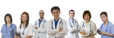 Friendly hospital personel Royalty Free Stock Images