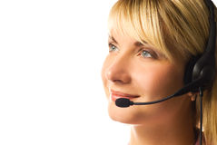 Friendly hotline operator Royalty Free Stock Images
