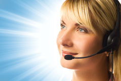 Friendly hotline operator Stock Photos