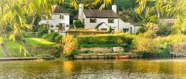 'Friendly House'. Captured by the river Severn Worcester Royalty Free Stock Photography