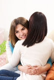 Friendly hug Royalty Free Stock Image