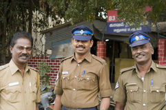 Friendly Indian Policemen Royalty Free Stock Photos
