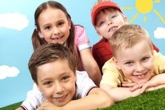 Friendly kids Royalty Free Stock Photography