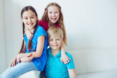 Friendly kids Stock Image