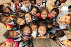 Friendly kids in Laos Royalty Free Stock Images