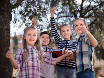 Friendly kids at the park Stock Images