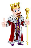 Friendly King Cartoon Royalty Free Stock Photography