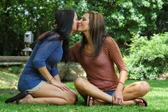 Friendly Kisses Stock Images