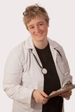 Friendly lady doctor Royalty Free Stock Photos