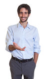 Friendly latin guy with beard Royalty Free Stock Images