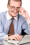 Friendly looking  manager portrait Royalty Free Stock Photo