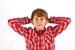 Friendly looking young boy Royalty Free Stock Photos