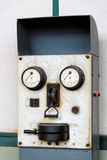 Friendly Machine Face. Historical switchboard in a coalmine royalty free stock photo