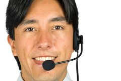 Friendly male customer services representative Stock Image