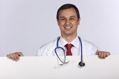 Friendly male doctor Stock Images
