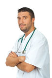 Friendly man healthcare worker Royalty Free Stock Photography