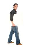 Friendly man holding a board Stock Image