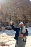 Friendly man at Pyramids in Giza Stock Image