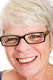 Friendly, mature white haired woman Royalty Free Stock Image