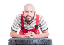 Friendly mechanic face Stock Images